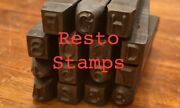 Indian Motorcycle Number And Letter Stamp Set 1947 - 1948