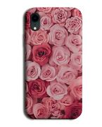 Peach Pink Floral Phone Case Cover | Flowery Style Design Red Rose Roses B632
