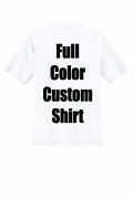 Dozen Custom T-shirts Personalized Full Color Front And Back Printing Free Ship
