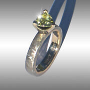 Custom Made Gibeon Meteorite And Sapphire Engagement Ring Jewelry 086 In 14k Gold