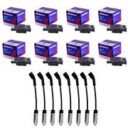 8 Oem Bs-c1511 Ignition Coils + 8 Oem Spark Plug Wires With Heat Shields