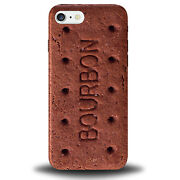 Bourbon Biscuit Phone Case Funny Retro Iphone Cover Novelty Brown