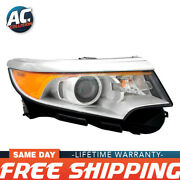 Fo2503291 Headlight For 2011-2014 Ford Edge Rh Se/sel/limited Halogen