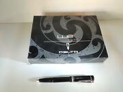 Delta We Black Rollerball Pen Sterling Silver Ring Red Pepper Mint Box Rare