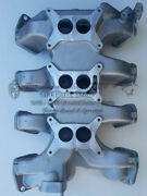 1958-1959-1960 Lincoln Tri - Power Intake Manifold For 3 Holley Carburetors New