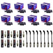 8 Oem Bs-c1511 Ignition Coils+8 4303 Spark Plugs+8 Plug Wires W/heat Shields