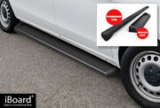 Iboard Running Boards 6in Matte Black Fit 16-21 Mercedes-benz Metris Cargo Van