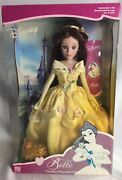 Disney Princess Belle Porcelain Doll Collector Brass Key Beauty And The Beast 2002
