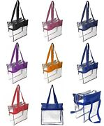 Clear Transparent Tote Bag Nfl Stadium Pga Nba Approved Security Travel Sports