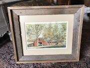 Charles Beckendorf Signed And Numbered Print, Rustic Frame