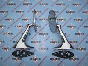 1957-1958 Buick Outside Rear View Mirrors. Pair. Chrome W/ Gaskets And Hardware