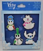 Disney 2018 Mickey Merry Christmas Party Snowman 4 Pin Set Le 300 Sold Out Rare