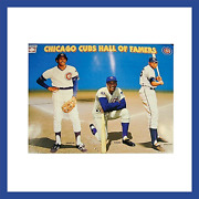 Chicago Cubs Mlb 1997 Hall Of Fame Poster Licensed Jenkins Banks And Williams