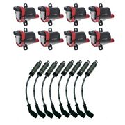 8 Herko Ignition Coils B045he + 8 Acdelco Spark Plug Wires 9748hh + Heat Shields