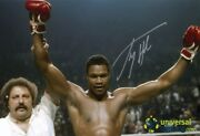 Larry Holmes Hand Signed 18x12 Autographed Boxing Photo Proof And Coa