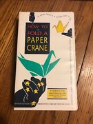 How To Fold A Paper Crane Vhs Tape Ships N 24h