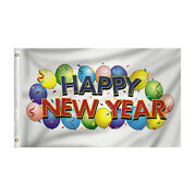 3and039 X 5and039 Happy New Year Eve Party Outdoor Home Garden Decor Rectangle Banner Flag