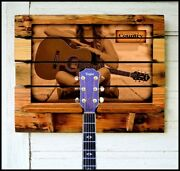 Guitar Rack Country Or Personalize Your Photo Or Favorite Artist Barn Wood