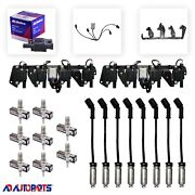 8 Bs-c1511 Coils + 8 4303 Plugs + Wires W/heat Shields + 2 Brackets And Harnesses