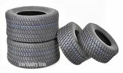 Set Of 4 New Lawn Mower Turf Tires 15x6-6 Front And 20x10-8 Rear /4pr