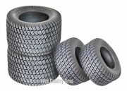 Set Of 4 New Lawn Mower Turf Tires 16x6.5-8 Front And 24x12-12 Rear /4pr
