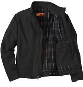 Mens Washed Plus Size Extra-tough Warm Work Jacket Wind Resistant Mid Weight