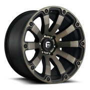 Fuel Diesel D636 20x10 6x139.7 Et-18 Black And Machined With Dark Tint Qty Of 4