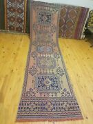 Vintage 1950-1960and039s Bohemian Oushak Runner 3and039 Andtimes11and0396