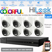 Hikvision 5mp Cctv System Dvr 4ch 8ch 24/7colorful Night Vision Dome Camera Kit