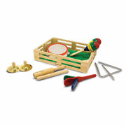 New Melissa And Doug Band In A Box 10 Pc Musical And Rhythm Instruments Set 3+