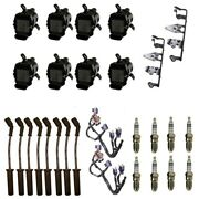 8 Adp Coils +8 Bosch Spark Plugs +8 Acdelco Wires +2 Oem Brackets And Harness
