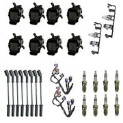 8 Adp Coils +8 Bosch Spark Plugs +8 Herlux Wires +2 Oem Brackets And Harness