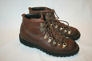 Vtg Danner Hiking Trail Boots Leather Gore-tex Vibram 8 M Usa Nice