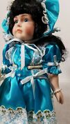 Vintage 80s Betty Jane Carter Doll Crystal Limited Edition Musical Porcelain