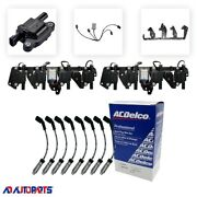 8 Adp D513a Coils + 8 Oem Wires W/heat Shields + 2 Brackets And Harnesses