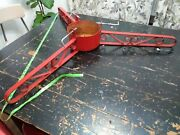 Vintage Heavy Duty Huge Large Christmas Tree Stand Iron Metal Red Antique 43