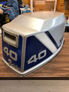 1990and039s Nissan 40 Hp 2 Stroke Outboard Engine Top Cowl Cover Hood Freshwater Mn