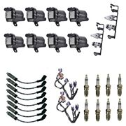 8 Herko Coils +8 Bosch Spark Plugs +8 Acdelco Wires +2 Acdelco Brackets Andharness