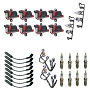 8 Herko Coils +8 Bosch Spark Plugs +8 Acdelco Wires +2 Oem Brackets And Harness