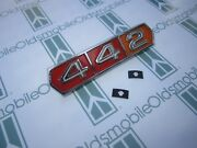1966 Olds Cutlass 442 Grill Emblem With Hardware | Chrome Plated Tri-color
