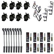 8 Adp Coils +8 Bosch Spark Plugs +8 Herlux Wires +2 Brackets And Harness Roundcoil