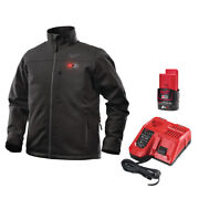 Milwaukee M12hjbl4-201 Black Premium Heated Jacket With Battery And Charger