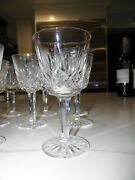 Waterford Crystal Lismore Wine Glasses Set Of Eleven 11 5 3/4 Tall 3 Across
