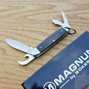 Boker Magnum Camp Folding Knife 440 Stainless Steel Blades Rosewood Handle