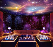 Purple Holes Clouds 3d Full Wall Mural Photo Wallpaper Printing Home Kids Decor
