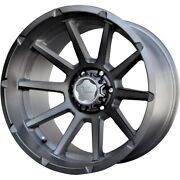 V-rock Vr13 Tactical 20x12 6x139.7 Offset -44 Brushed W/dark Tint Qty Of 4