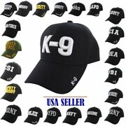 Nwt Baseball Cap Adjustable Hat Cia,fbi,lapd,k-9,police,security,staff And More