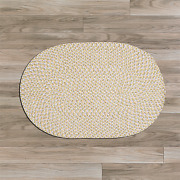 Confetti Daisy Yellow Braided Area Rug/runner By Colonial Mills. Many Sizes.ti39