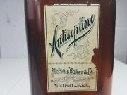 Amber Nelson Baker And Co. Antiseptine Manufacturing Chemists Amber Bottle U.s.a
