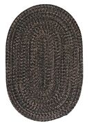 Hayward Black Braided Area Rug/runner By Colonial Mills. Many Sizes. Hy19
